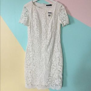 White Lace Ralph Lauren Fitted Dress